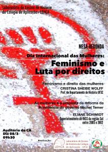 Cartaz evento Dia Internacional das Mulheres
